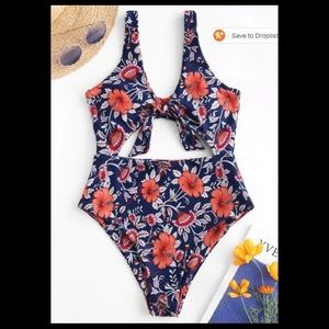 NWOT! Floral one-piece